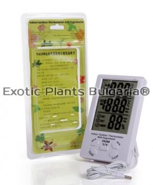 Electronic thermometer humidity meter